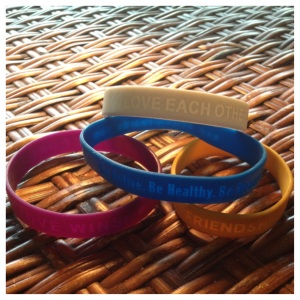 Silicon Bracelets With Inspiring Messages