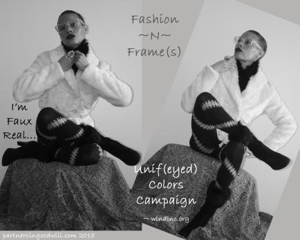 White Fur Collage Ad